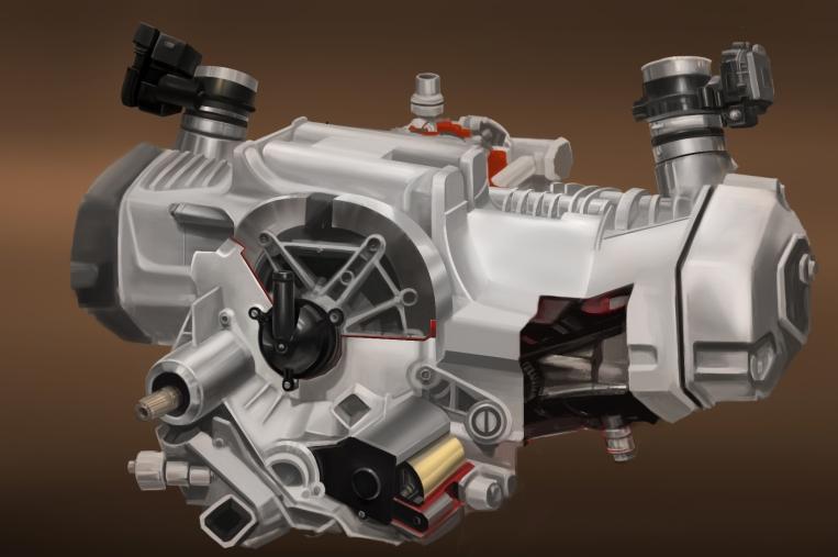 Photo Study 31 - Cutaway Engine